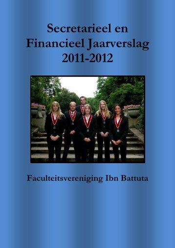 Secretarieel en Financieel Jaarverslag 2011-2012