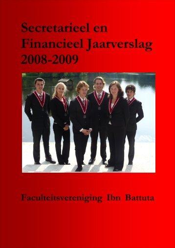 Secretarieel en Financieel Jaarverslag 2008-2009