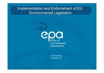 Implementation and Enforcement of EU Environmental Legislation