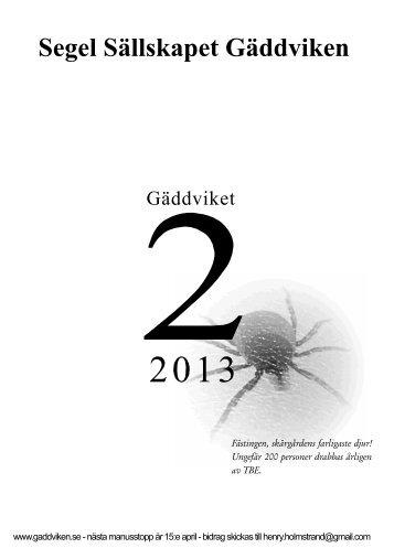 Gäddviket nr.2 2013 - Segel Sällskapet Gäddviken