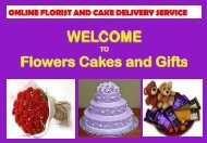 Online Florist And Cake Delivery Service