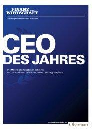 Die Obermatt-Ranglisten Schweiz 146 Unternehmen und ihre CEO ...