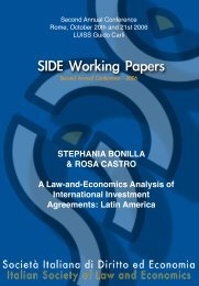 SIDE Working Papers - SIDE - ISLE 2013