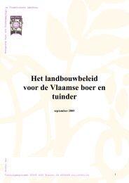 Het landbouwbeleid voor de Vlaamse boer en tuinder