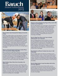 Baruch Student Achievements - Zicklin School of Business - CUNY