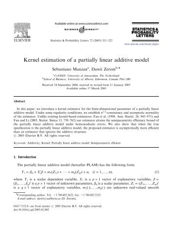 Kernel estimation of a partially linear additive model