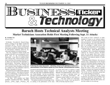 Baruch Hosts Technical Analysts Meeting