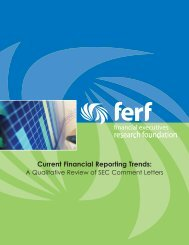 Current Financial Reporting Trends