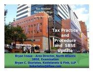 Tax Practice and Procedure and SBSE Update
