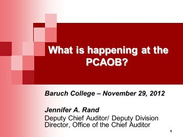 What is happening at the PCAOB?