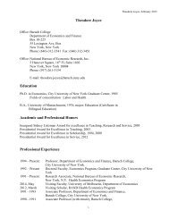 Theodore Joyce Education Academic and Professional Honors ...