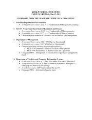 Graduate Curriculum Committee - zicklin : school of business - CUNY