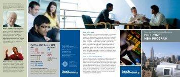 FULL - TIME MBA PROGRAM