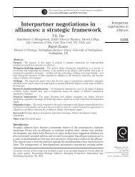alliances a strategic framework