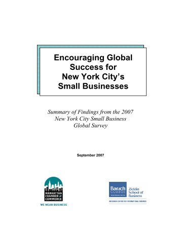 Encouraging Global Success for New York City's Small Businesses