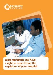 What standards you have a right to expect from the regulation of your hospital