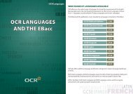 OCR Languages and the Ebacc