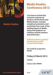 Media Studies Conference 2012