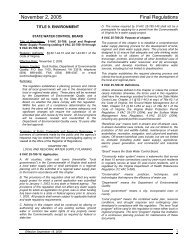 November 2 2005 Final Regulations