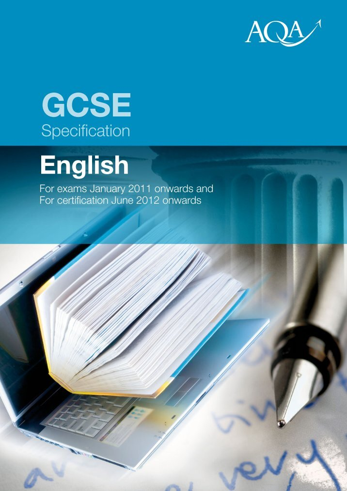 gcse english coursework specification