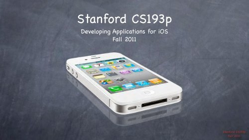 Stanford CS193p