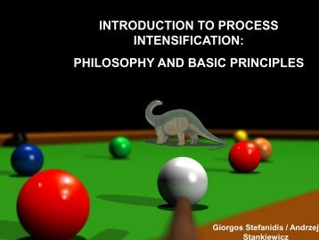 INTRODUCTION TO PROCESS INTENSIFICATION PHILOSOPHY AND BASIC PRINCIPLES