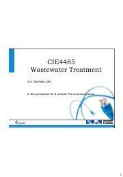 CIE4485 Wastewater Treatment