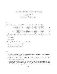 Non-equilibrium thermodynamics Exercise 2 Entropy Production 1 q? 2