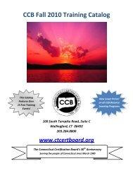 CCB Fall 2010 Training Catalog