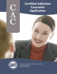 Certified Addiction Counselor Application