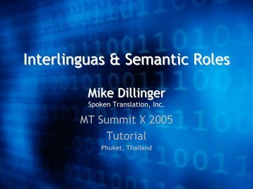 Interlinguas & Semantic Roles