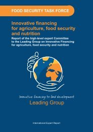 Innovative financing for agriculture, food security and nutrition