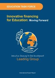Innovative financing for Education