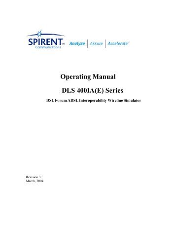 spirent testcenter system reference manual