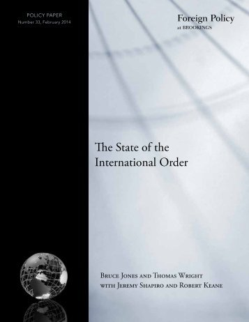 The State of the International Order