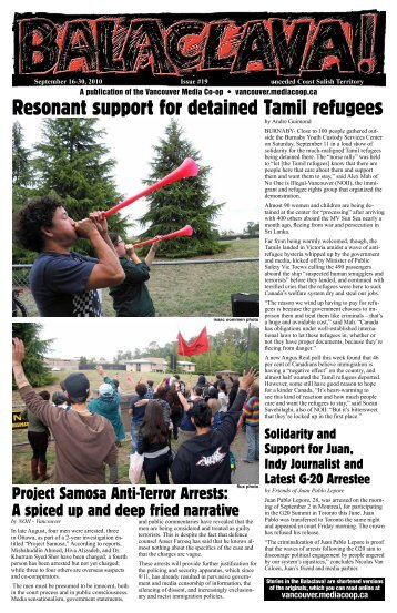 Resonant support for detained Tamil refugees