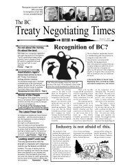Treaty Negotiating Times