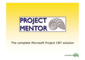 The complete Microsoft Project CBT solution