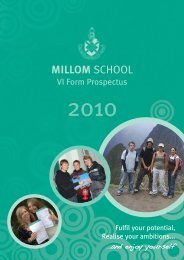 Millom School 6th Form Prospectus
