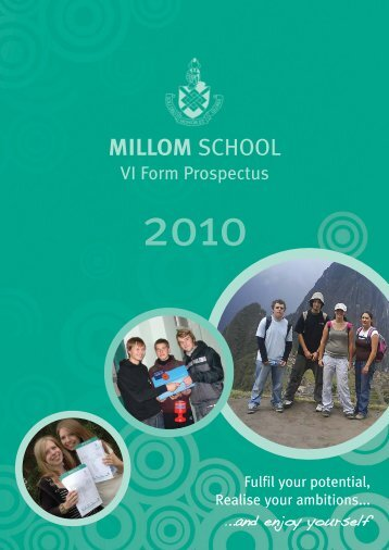 Millom School 6th Form Prospectus