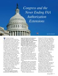 Congress and the Never Ending FAA Authorization Extensions