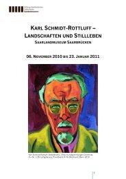 karl schmidt-rottluff – landschaften und stillleben - Saarland Museum