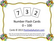 Number Flash Cards 0 – 100 - Positively Autism