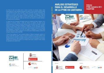 Análisis Estratégico para el desarrollo de la pyme en Cantabria - Inicio