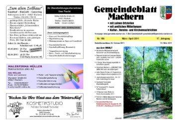 Amtsblatt Nr. 196 März 2011 - Gemeinde Machern