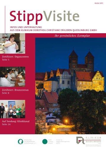 Ihr persönliches Exemplar - Klinikum Quedlinburg