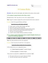 8 Comma Rules - English for Everyone
