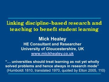 teaching to benefit student learning