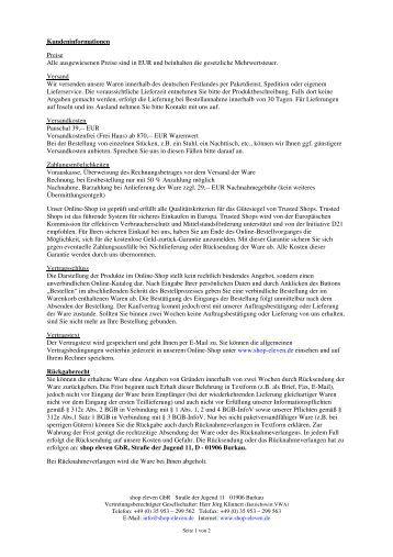 PDF-Dokument herunterladen - Shop-eleven