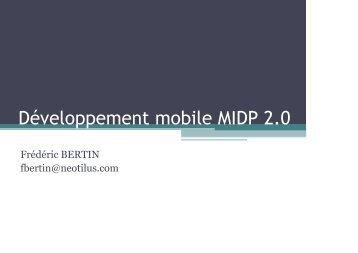 Développement mobile MIDP 2.0